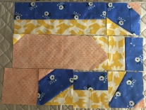 Piecing mistakes while I sew the quilt pattern together