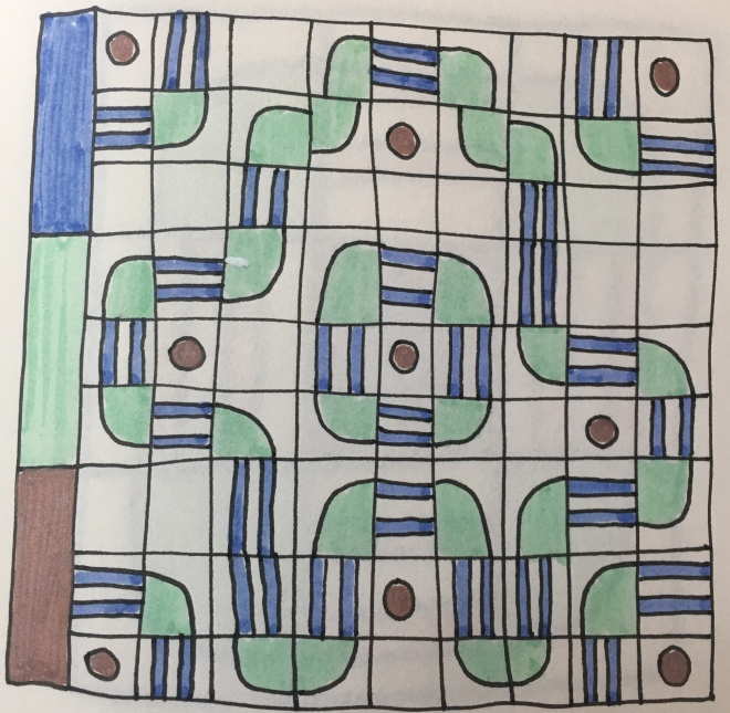 Drawing of a quilt pattern idea