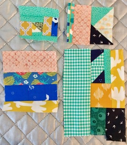 Piecing quilt blocks with fabric scraps